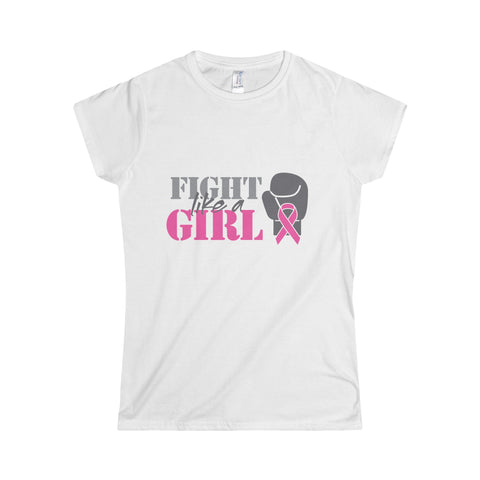 Fight Like A Girl Softstyle Women's T-Shirt