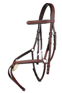 HKM Arzu Grackle Bridle with continental reins
