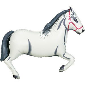 "Large Horse Balloon 43"" - Grey"