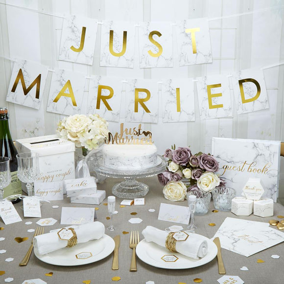 Scripted Marble Wedding Theme