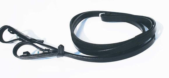 Plain Leather Dressage Reins with Inside rubber grip