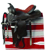Windsor Equestrian Western Saddle, Bridle and Saddlepad set - Cob Size - Black