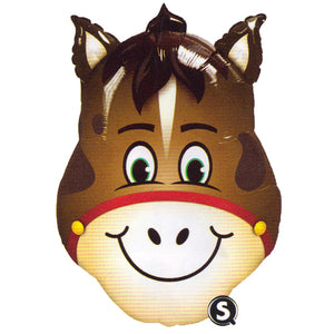 "Large Horse Balloon 32"" - Funny Animated Horse Head"