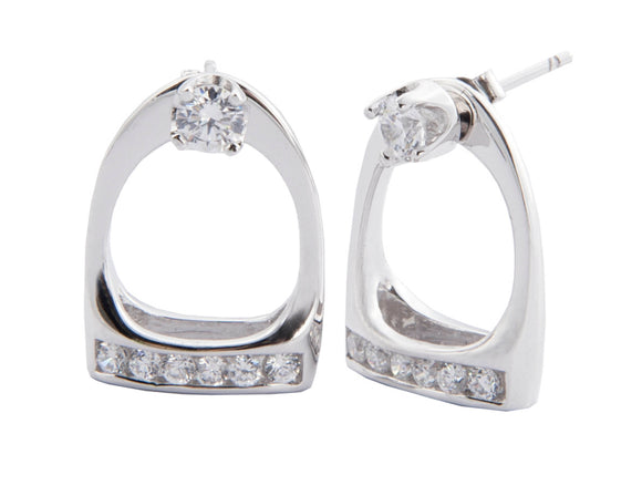 HKM Stirrup Crystal Earrings