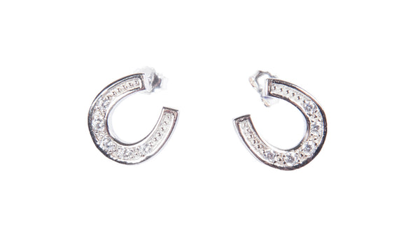 HKM Horseshoe Earrings with Fine Crystals
