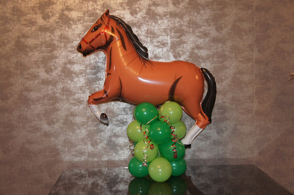 Horse Balloon Decoration - Large Brown (Bay) Horse