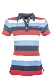 HKM Pro-Team International Stripe Polo Shirt - Childrens Horse Riding
