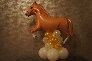 Horse Balloon Decorations - Large Palomino (Light Brown) Horse