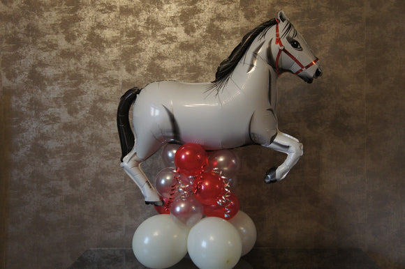 Horse Balloon Decoration - Large Grey / White Horse