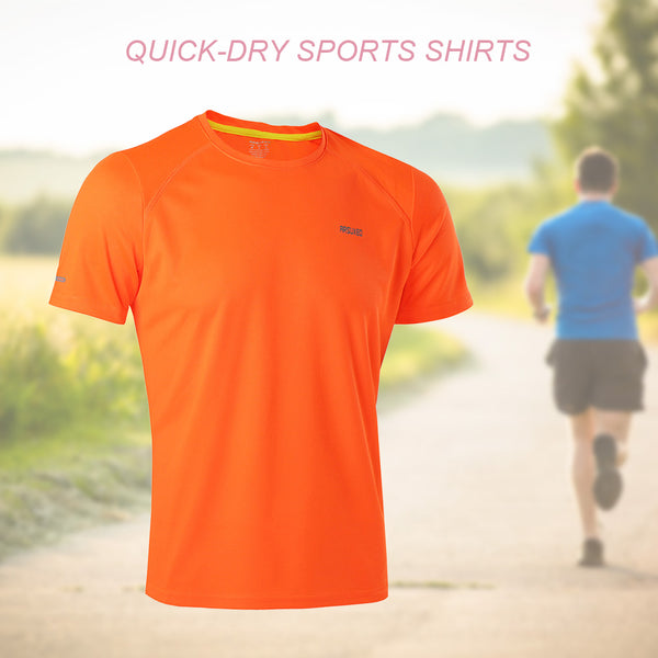 Brand Men's T-shirt Quick Dry Breathable Fitness T-shirts Men Jersey Sports Running Shirt Slim Fit Men's T-Shirts Running