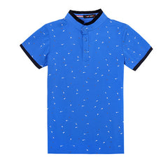 2017 Summer Guitar Printed Stand Collar Polo Shirt Men Short Sleeve Casual Men Shirts Slim Fit Polo Homme Cotton Mens Polos