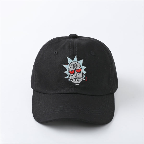 The New US Animation Rick Caps Dad Hat Rick and Morty Hats Adjustable Casquette High Quality Cotton Baseball Cap bone Snapback