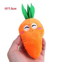 1pc Cute Fruit Design Pet Dog Toys Soft Fleece Puppy Dog Chew Squeaky Toys