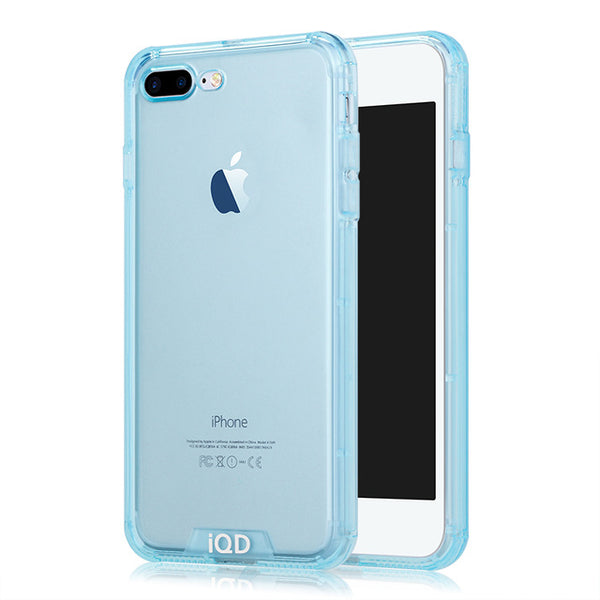 IQD Bumper Case For iPhone 8 7 plus Cover TPU Anti-Scratch Rigid Slim Protective Back Durable cellphone For iphone 8 plus Cases