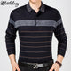 2017 casual long sleeve business mens shirts male striped fashion brand polo shirt designer men tenis polos camisa social 5158