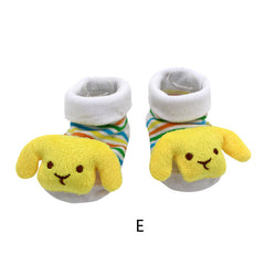 Baby Socks Anti-Slip Cotton Newborn Infantil Baby Sock Cartoon Animal Slippers Boots Unisex Boy Girl Socks Rubber Sole