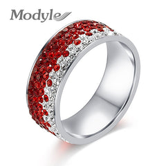 Modyle Brand Zircon Rings Clear CZ Gold-Color Rings for Women Fashion Jewelry Wholesale