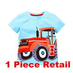 Retail T-shirts for Boys Kid T-shirt Baby Children Girls Boys Clothing Blue Long Sleeve Boys T shirt Tops VIKITA LM50788
