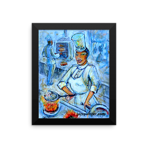 """sizzle"" Framed photo paper poster"
