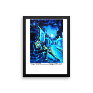 """Inspiration"" Framed photo paper poster"