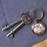 Personalised Circle Photo Keyring