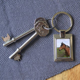 Personalised Metal Photo Rectangle Keyring