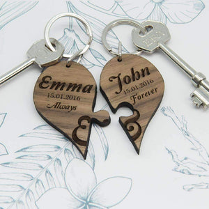 Always & Forever Couples' Jigsaw Keyring,