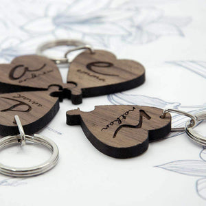 Best Friends Forever Heart Wooden Keyring,