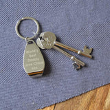 Personalised Engraved Bottle Opener Keyring