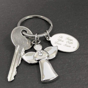 Personalised Angel Keyring,