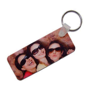 Personalised Double Sided Rectangle Photo Plastic Keyring,