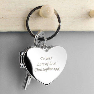 Personalised Heart Photoframe Keyring,