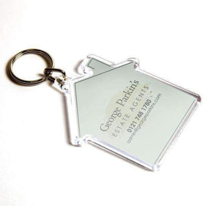 Personalised House Plastic Photo Keyring,