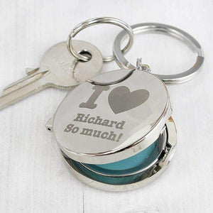 Personalised I heart Photo Keyring,