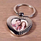 Personalised Metal Photo Heart Keyring,