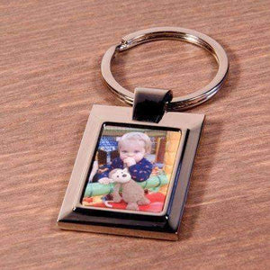 Personalised Metal Photo Rectangle Keyring,