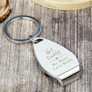 Personalised No.1 Bottle Opener Keyring,