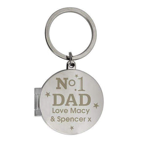 Personalised No1 Dad Photo Keyring,