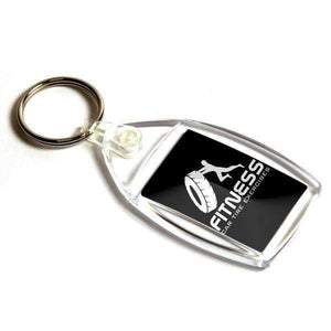 Personalised Small Rectangular Plastic Photo Keyring,
