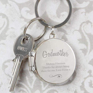 Personalised Swirls & Hearts Photo Keyring,