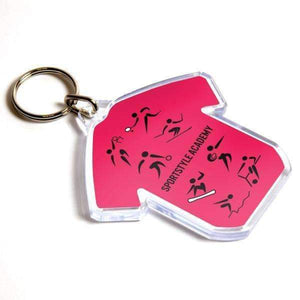 Personalised T-Shirt Shape Plastic Photo Keyring,
