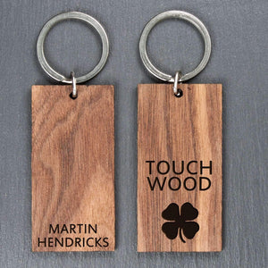 Personalised Touch Wood Keyring,