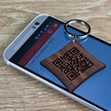 Secret Message QR Code Keyring,