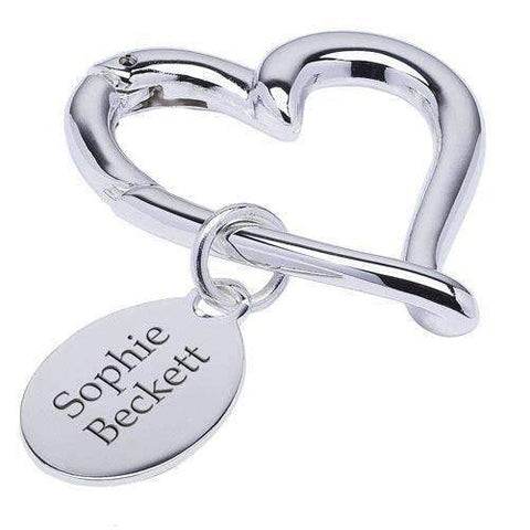 Silver Plated Beating Heart Keyring,