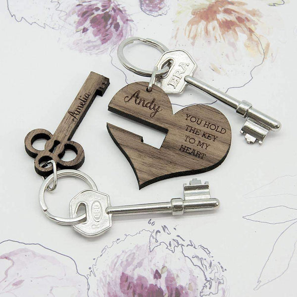 You Hold The Key To My Heart Keyring Set Of Two,