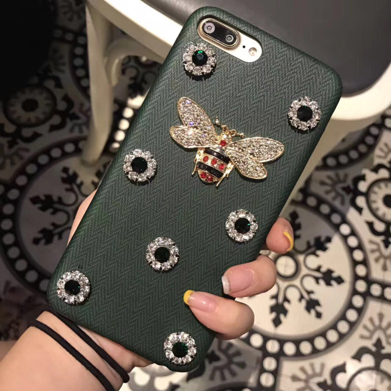 3D Metal Bee Pearl Case