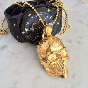 Gold Skull Necklaces