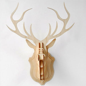 Wooden Deer Head - Vintage Wood