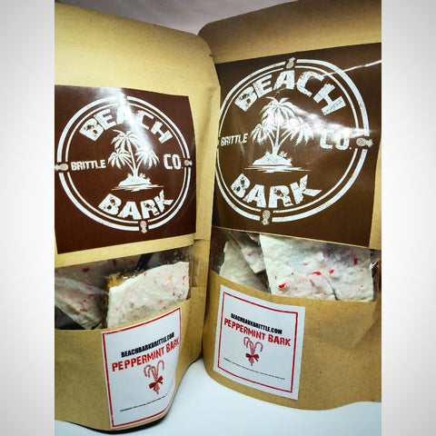 Peppermint BEACH BARK® - 1/4 lb & 1/2 lb Resealable Snack Bags