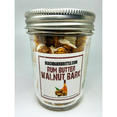 Bits of Bark Ball Jar - Rum Butter Walnut